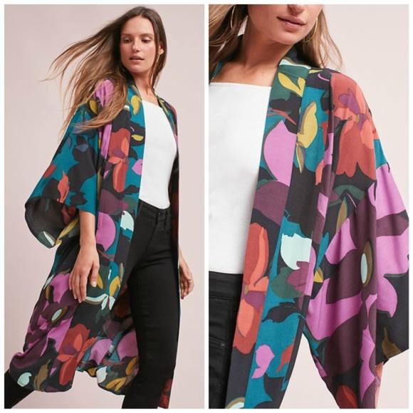 79070b493e0 NWT🌸Anthropologie Kira Long Kimono Jacket